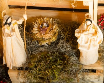 Baby Jesus in Corn-husk Navity Scene BY RUDY GIRON