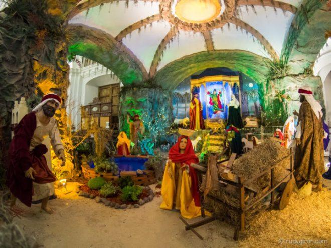 Nativity Scene at Iglesia La Merced in Antigua Guatemala BY RUDY GIRON