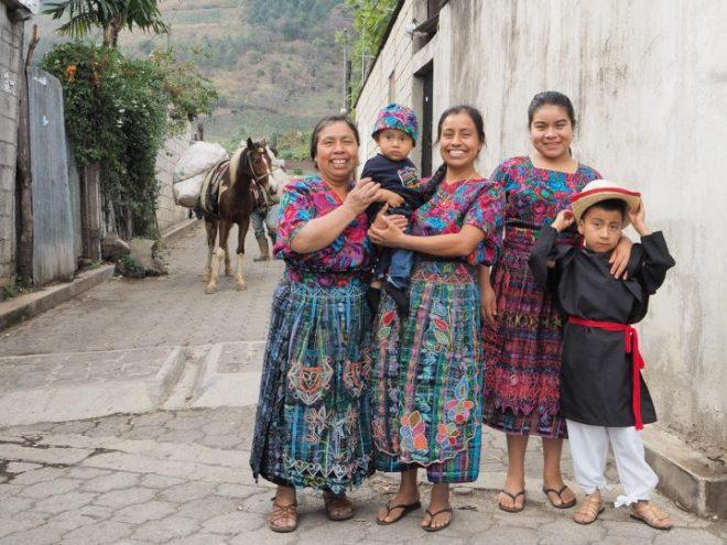 Smiling Mayan family from Santiago Zamora, San Antonio Aguascalientes BY RUDY GIRON