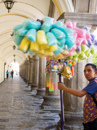 Quotidian Vistas from Antigua Guatemala — Ambulant Cotton Candy Vendor BY RUDY GIRON