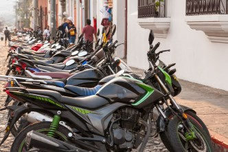 Motorcycle Parking Zones in Antigua Guatemala BY RUDY GIRON