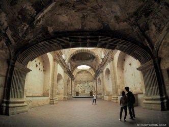 Fisheye view of Oratorio of Las Capuchinas Ruins in Antigua Guatemala BY RUDY GIRON