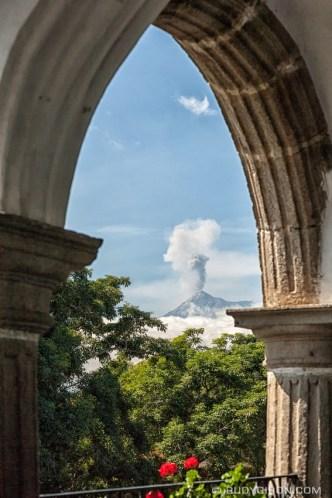 Framed Volcán de Fuego Eruption BY RUDY GIRON