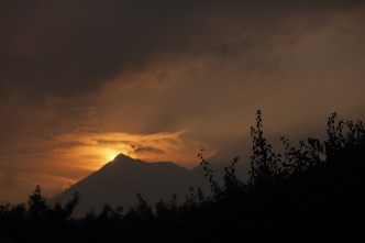 Antigua Typical Vistas: Sunset and Fuego Volcano BY RUDY GIRON
