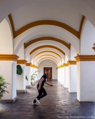 Arches at the Antiguo Colegio de la Compañía de Jesús