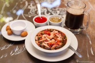 PHOTO STOCK: Guatemalan Shrimp Ceviche and Picosita Beer