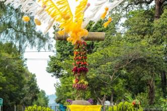 Decorations for Día de la Santa Cruz