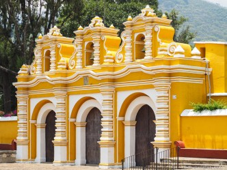 PHOTO STOCK: Colorful Gate of El Calvario Parish