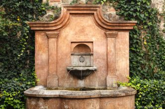 Colonial style fountain from Antigua Guatemala