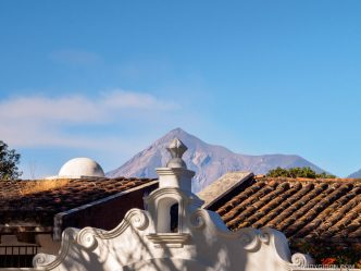 PHOTO STOCK: Sights of Antigua Guatemala- Volcano and Rooftop