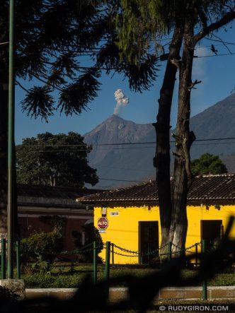 PHOTO STOCK: Framed Fuego Volcano Eruption