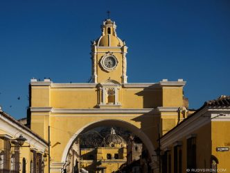 PHOTO STOCK: Arch of Santa Catalina and La Merced Church in Antigua Guatemala