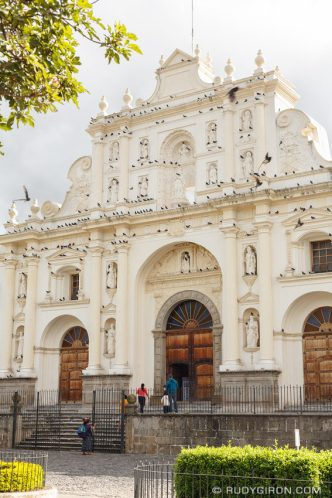 PHOTO STOCK: Freckled Façade of the Former Catedral de Santiago in Antigua Guatemala