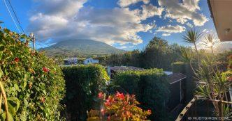 PHOTO STOCK: Panoramic Vista of Volcanoes Skyline from Antigua Guatemala