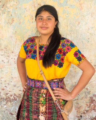 PHOTO STOCK: Mayan Portraits - Young and Beautiful Teenager