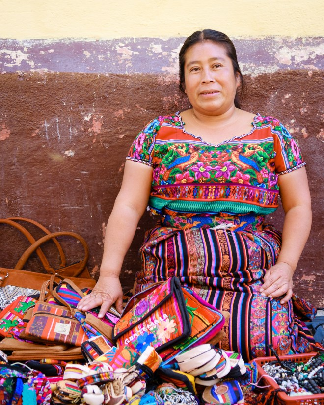 PHOTO STOCK: Street Portrait of a Mayan Vendor in Antigua Guatemala