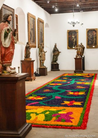 PHOTO STOCK: Holy Week Carpets Inside the Museum of Colonial Art