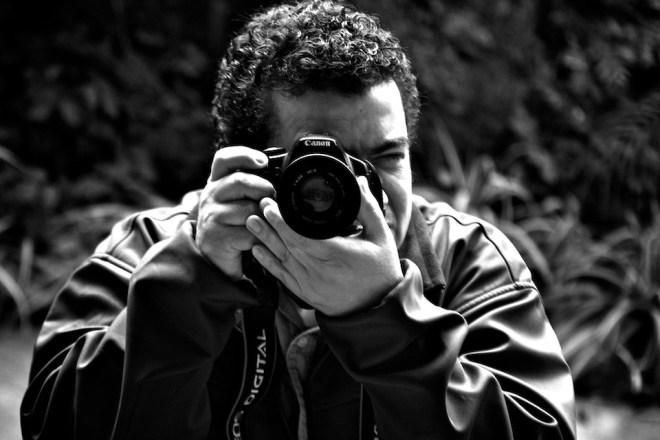 Self-portrait of photographer Rudy Giron
