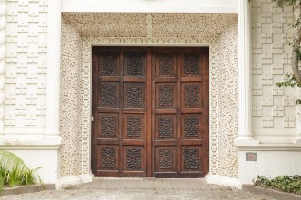 Architectonic Details of Antigua Guatemala — Baroque Door and Façade by RUDY GIRON