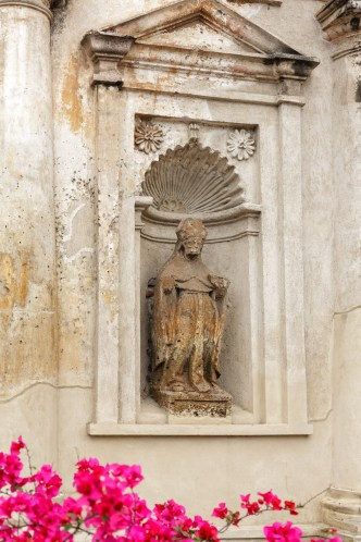 Architectonic Details of Antigua Guatemala — Saint in a Niche by RUDY GIRON