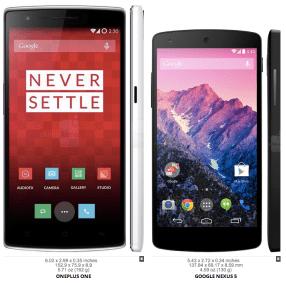 """Das """"kompromisslose"""" OnePlus One (links)..."""