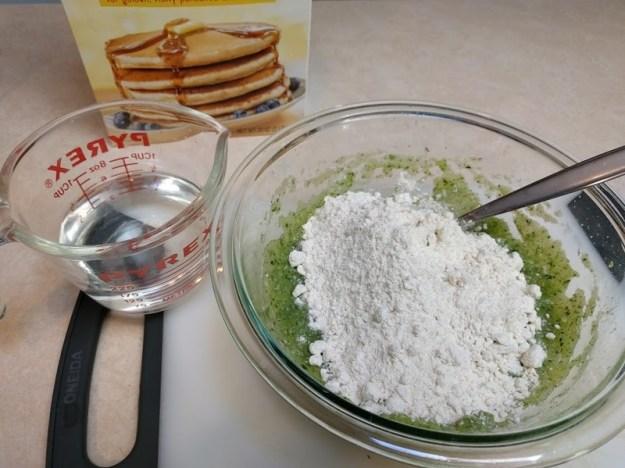 making zucchini pancakes