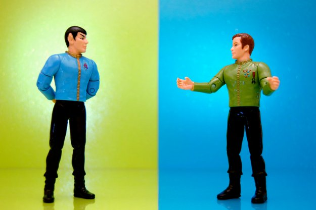 Kirk and Spock argue