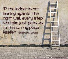 Ha a létrát nem a megfelelő falhoz támasztjuk, minden megmászott fokkal csak a rossz célhoz jutunk közelebb
