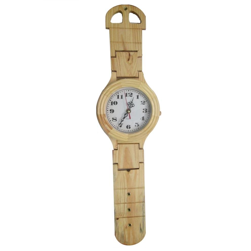 Wooden Wrist Watch Clock Decor 14 Inch Long Antikcart
