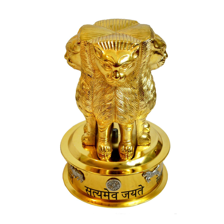 Brass Satyameva Jayathe Statue Model  Antikcart