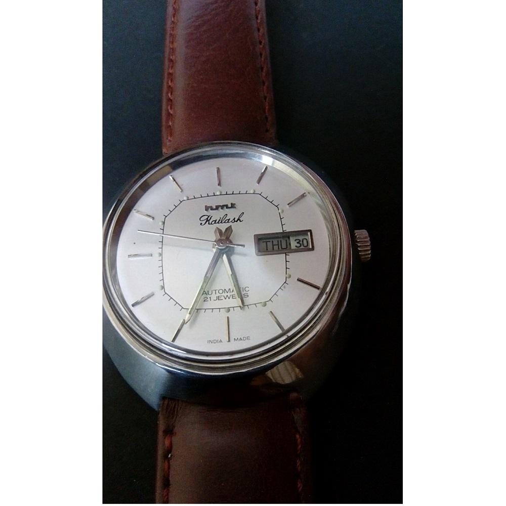 White Dial HMT Kailash Automatic Wrist Watch  Antikcart