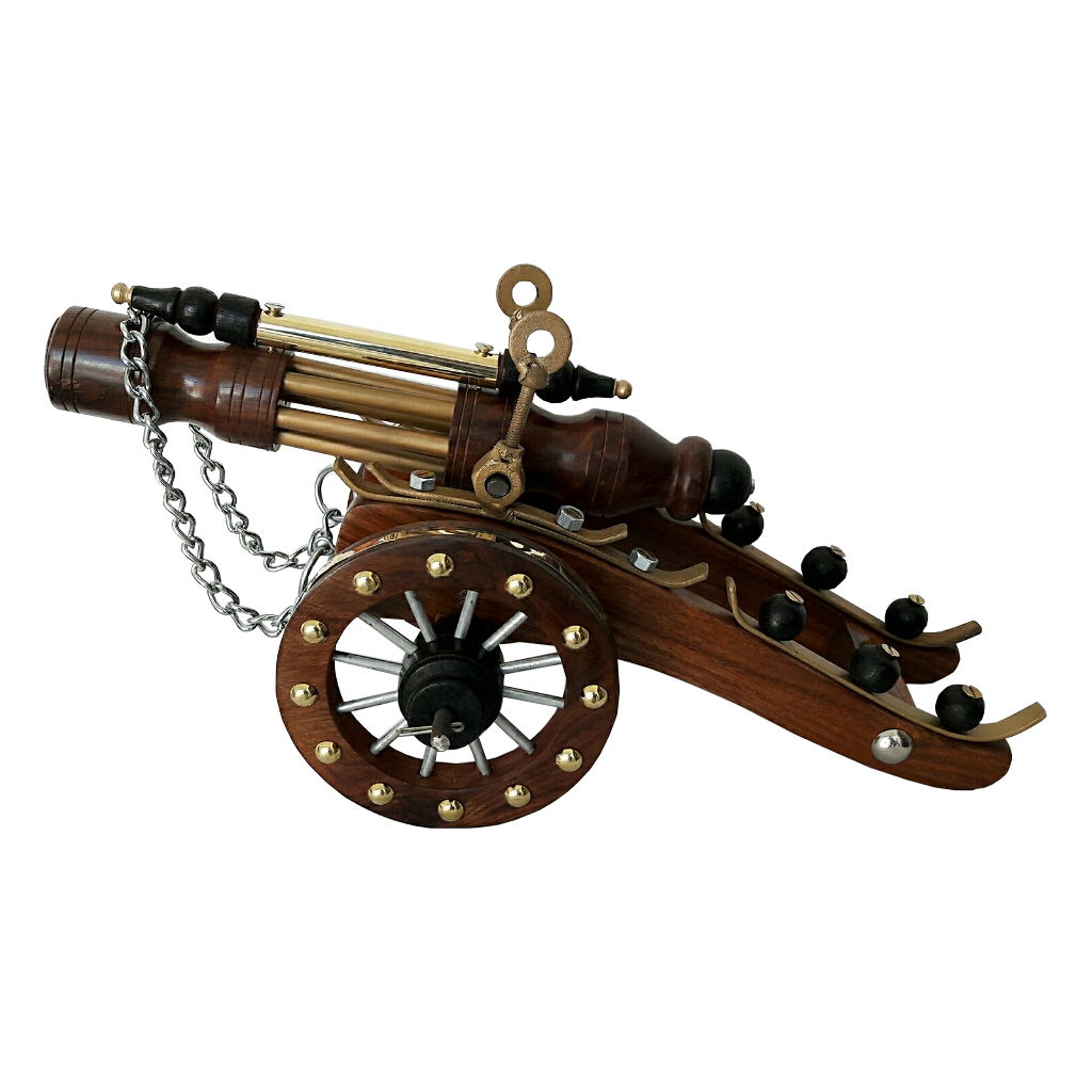 Exclusive Vintage Style Brass Wooden Cannon  Antikcart