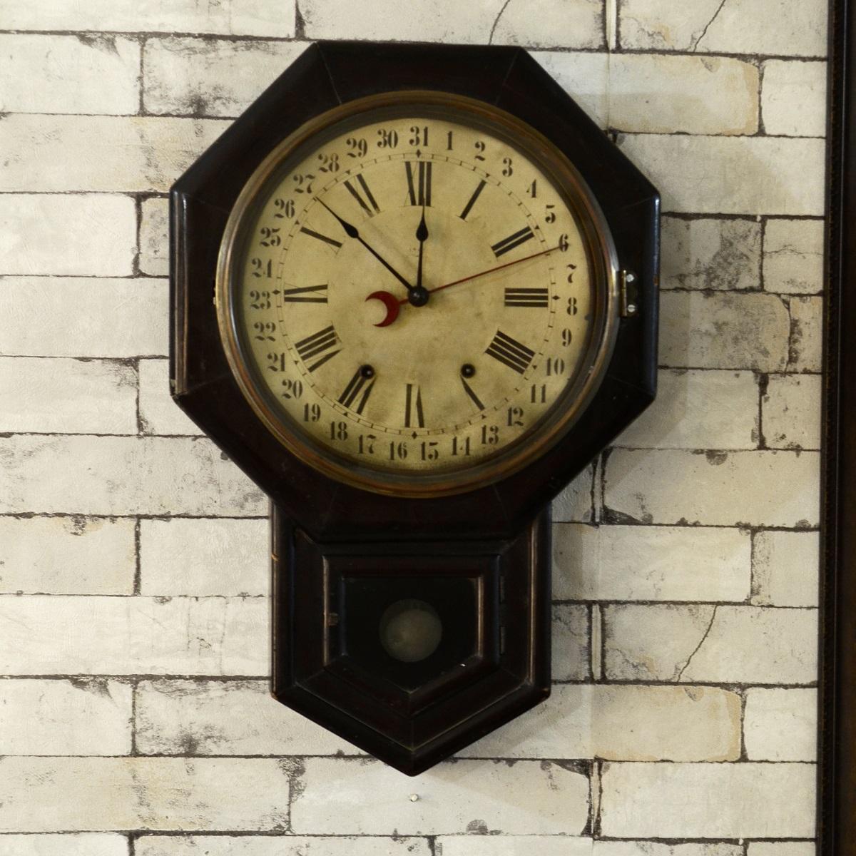 Classic Vintage Ansonia Analog Calendar Clock  Antikcart