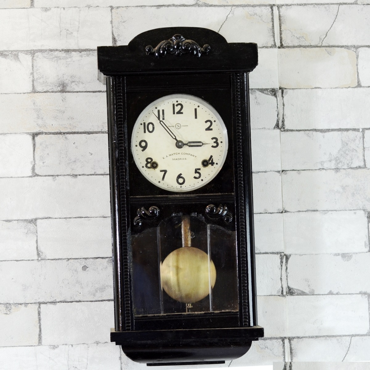 Wooden Wall Clock Seikosha Mini Tower 1940 Pendulum Wall Clock - Antikcart