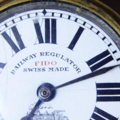 Antique Rocking Chairs For Sale Wrought Iron Swivel Patio Swiss Made Railway Regulator Fido Pocket Watch - Antikcart