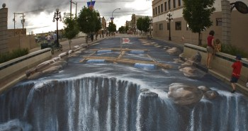 3d-chalk-art-waterfall-parking-lot-edgar-mueller