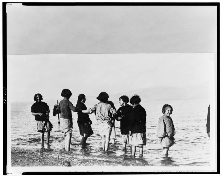 20100613055900!Greek_and_Armenian_refugee_children_in_the_sea_near_Marathon,_Greece,_c._1915