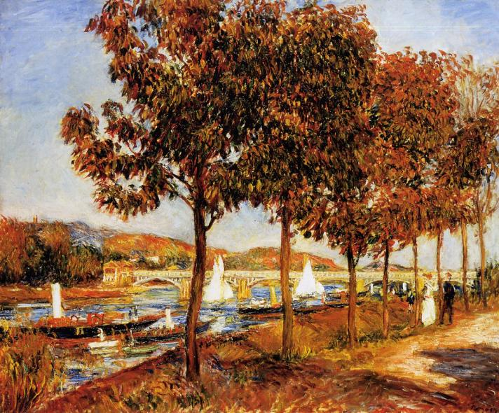 Pierre Auguste Renoir - The Bridge at Argenteuil in Autumn 1882