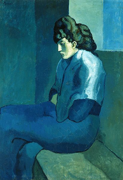 Pablo Picasso -μελαγχολική γυναίκα 1902-3