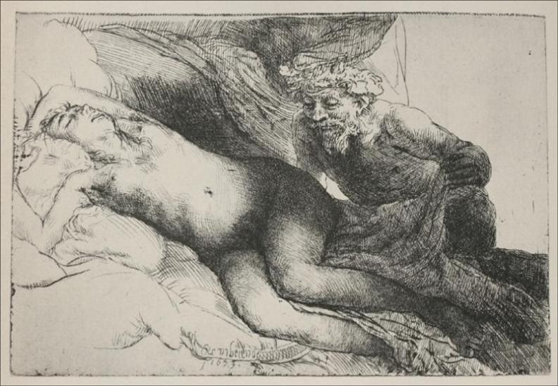 η Αντιόπη και ο Δίας Rembrandt  - 1659