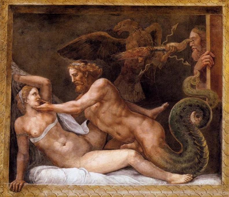 η Παραπλάνηση της Ολυμπιάδας από τον Δία Giulio Romano - 1528