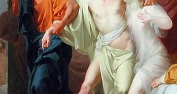 Σωκράτης τραβά τον Αλκιβιάδη από την Αγκαλιά της Ασπασίας Jean-Baptiste Regnault - 1785