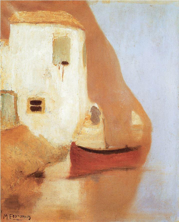 ΜΙΧΑΛΗΣ ΟΙΚΟΝΟΜΟΥ, «Υδρα»,1930, Εθνική Πινακοθήκη Ατυχος στη ζωή καθ΄ ότι έπασχε από σύφιλη και υποτιμημένος ως καλλιτέχνης,ο Μιχάλης Οικονόμου εκτιμήθηκε μετά τον θάνατό του ως εξαιρετικός τοπιογράφος και ένας από τους λίγους γνήσιους εκπροσώπους του ιμπρεσιονισμού στην Ελλάδα.