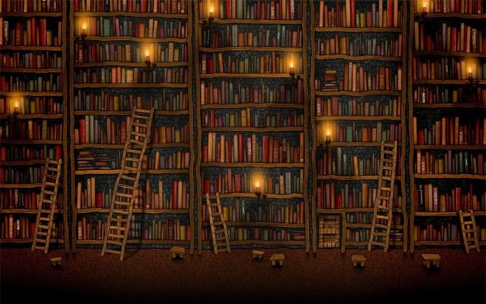 old_book_library_ladder_bookshelf_books