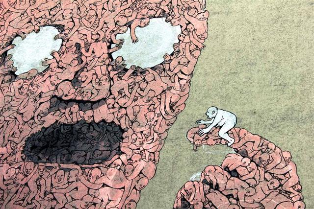 BLU_Mural_Pink_Oberbaum_Bridge_Street_Art_Berlin
