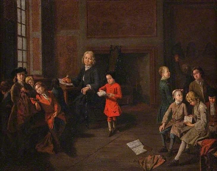 Δάσκαλος επιτηρεί μια μικρή τάξη -Joseph van Aken