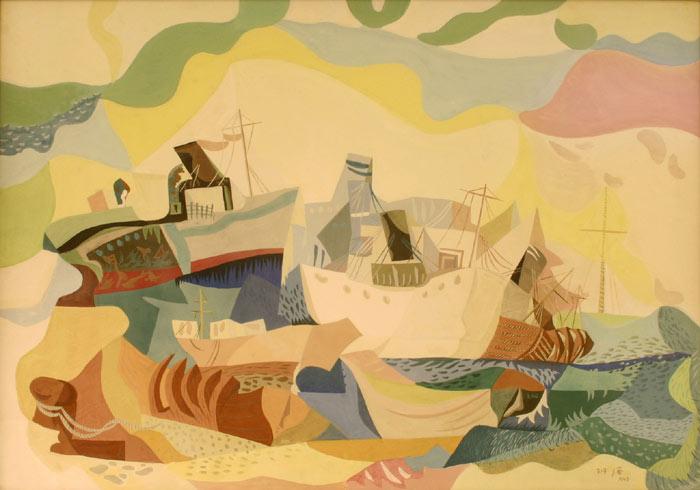καράβια Εβραίων μεταναστών - Jean David 1948