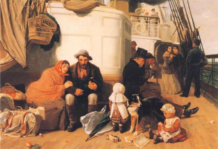 Καράβι μεταναστών - John Charles Dollman - 1884