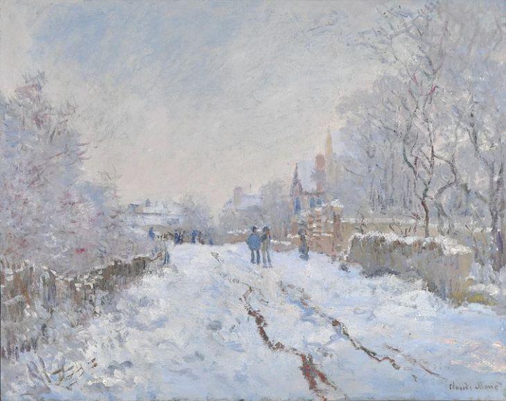 Monet, Χιόνι στο Argenteuil, 1875