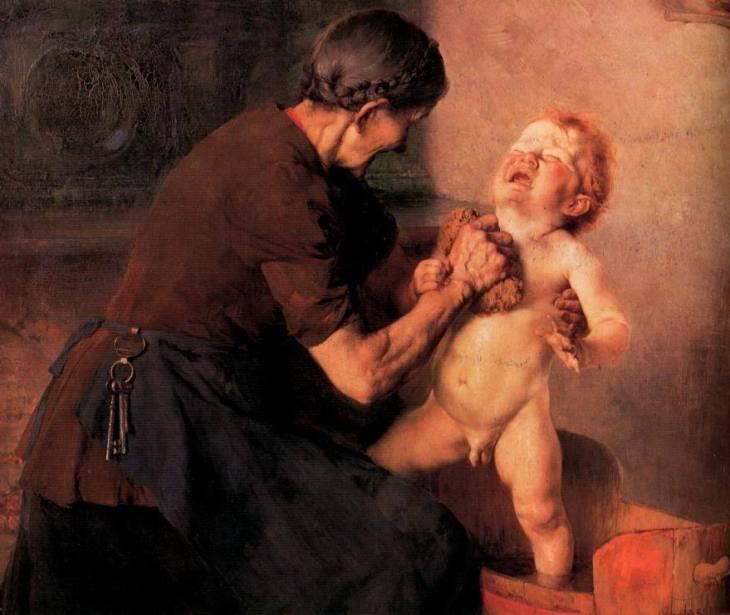 Γεώργιος Ιακωβίδης - Το κρύο μπάνιο (1898)